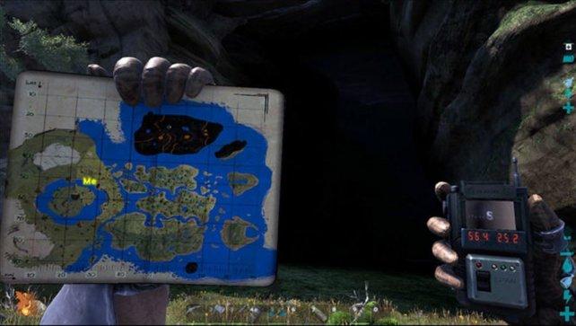 """Bei der Höhle """"The Center"""" handelt es sich um die zentrale Höhle auf dieser Karte."""