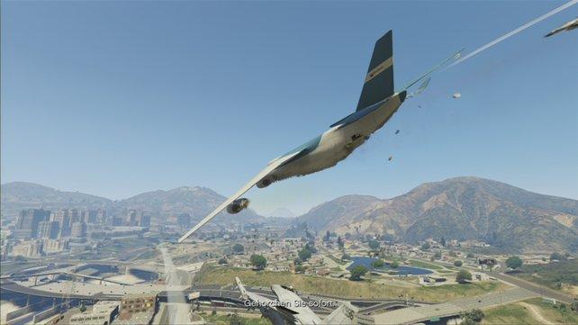 Wenn die Air Force anrückt, müsst ihr möglichst hoch fliegen.