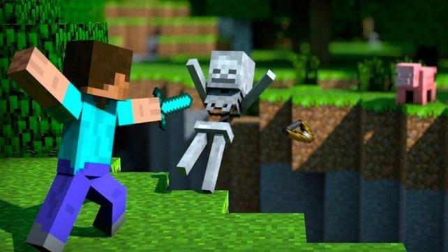Mit dem neuen Update für Minecraft geht es den Monstern an den Kragen. Bildquelle: Microsoft Studios.