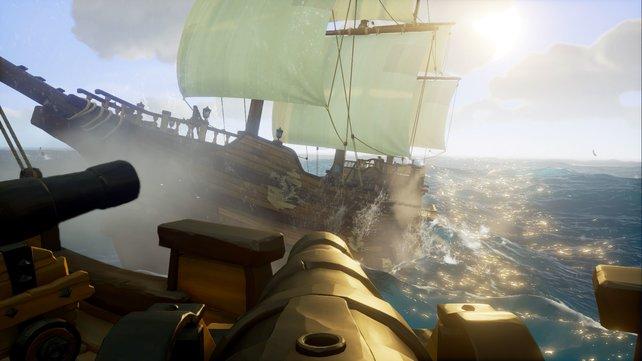 Schiff Ahoi! Mit Kanonenfeuer zerlegt ihr das Gegenüber Stück für Stück.