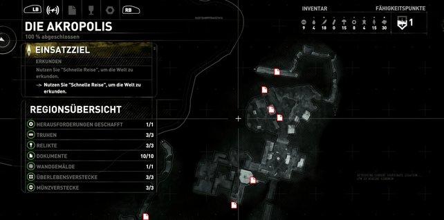 Karte: Die Akropolis (1/2).