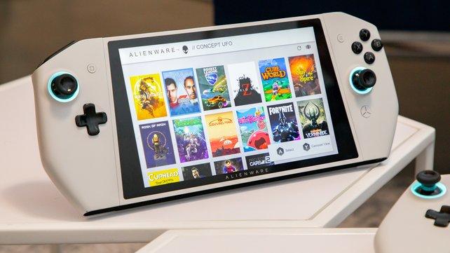 Schlichtes und modernes Design - so präsentiert Alienware seinen Handheld-Prototypen.