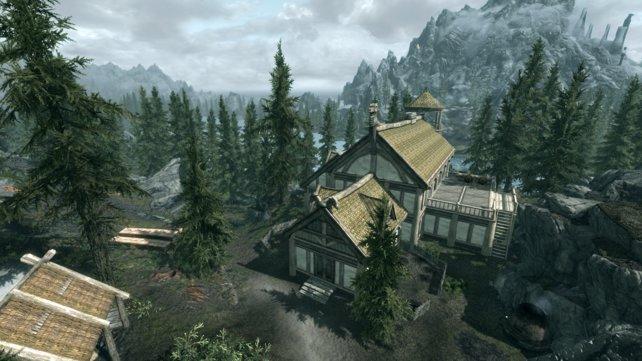 Mein selbstgebautes Haus lag in der Nähe von Flusswald. Manchmal streunerte ein Riese durch den Garten.