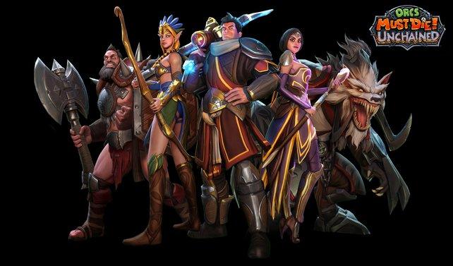 Hier seht ihr die fünf Charaktere auf einen Blick.
