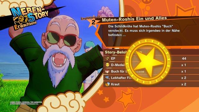 Muten-Roshi ist glücklich und ihr erhaltet EP, Gegenstände und sein Seelenabzeichen!