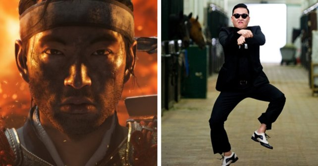 Ghost of Gangnam Style: Jin reitet ohne Pferd.