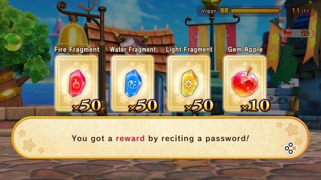 Apfeljuwelen sind sehr begehrt in Super Kirby Clash – nutzt Passwörter, um welche zu erhalten!
