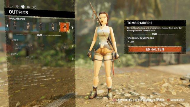 Einer unserer Favoriten: Laras klassicher Look aus der PS1-Ära.
