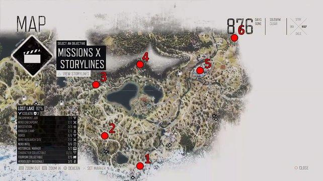 In Lost Lake gibt es 6 Horden.