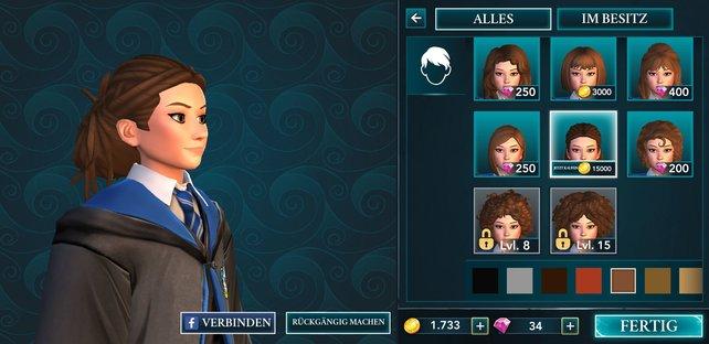 Ein kleines Rechenbeispiel: Kauft ihr die Münzen für diese Frisur in Hogwarts, seid ihr knapp 40 € im echten Leben los! Mit den Edelsteinen verhält es sich ähnlich.
