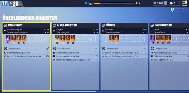 Ihr könnt schnell leveln, wenn ihr die Slots der Teams mit Einheiten füllt.