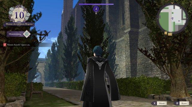 Botanische Abwechslung sucht ihr im Kloster vergebens. Ein Baum sieht aus wie der andere.