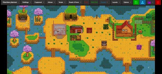 Platziert alle Gebäude und Pflanzen im Voraus, damit ihr eure beste Farm errichten könnt.