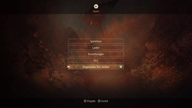 Eingelöste DLC-Boni müsst ihr in Tales of Arise erst abholen, bevor ihr sie nutzen könnt.