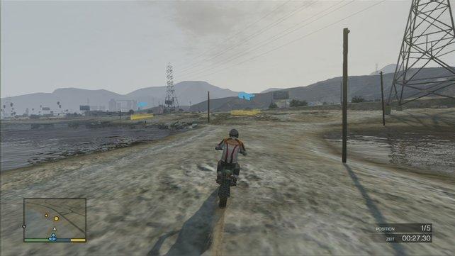 Das Rennen am Wasserufer ist wieder deutlich leichter.