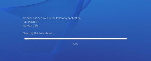 Ein bekannter Fehler auf PS4, der auch in Verbindung mit No Man's Sky gerne auftaucht.