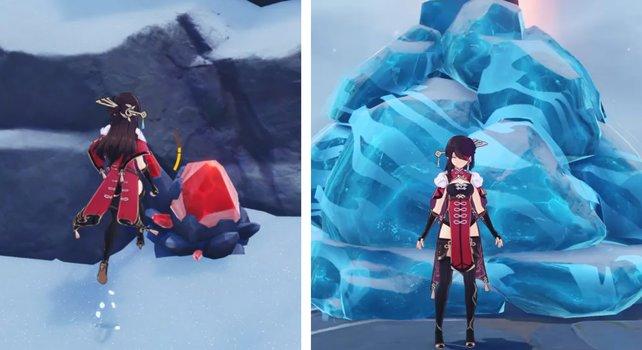Das rote Erz ist der Schlüssel dafür, um das seltsame Eis zu beseitigen.