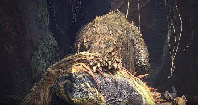 Kreaturen, mit denen ihr nach Spielbeginn noch Probleme hattet, schnappt sich der Dämonjho ganz locker mit einem Happs. Wollt ihr den wirklich erjagen?