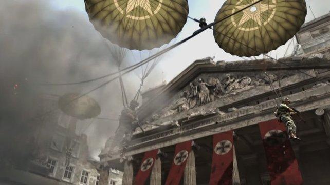 Call of Duty - WW2 in Deutschland: ohne Hakenkreuze.