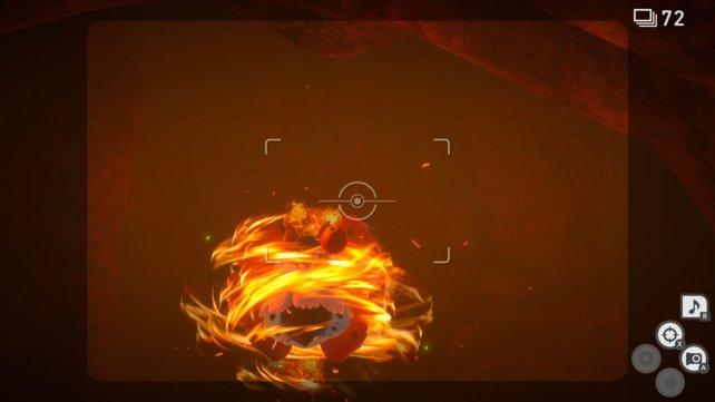 Lumina-Kugel kommen nicht gegen das Feuer an. Wieso Äpfel etwas ausrichten können, ist fragwürdig, aber das ist die Lösung.