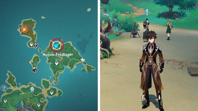 Die Karte zeigt euch den Fundort der dritten Feinschmecker-Quest.