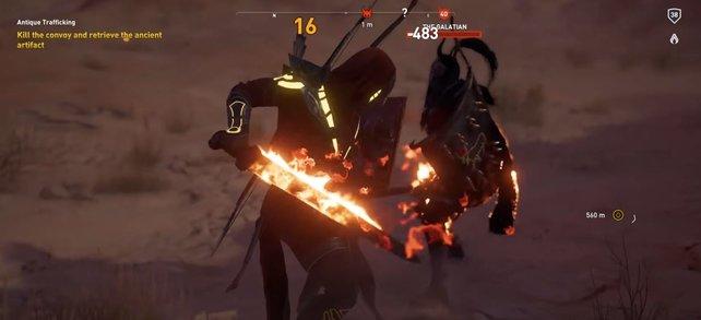 Das Feuerschwert ist nicht nur verdammt gut, sondern sieht auch noch cool aus.