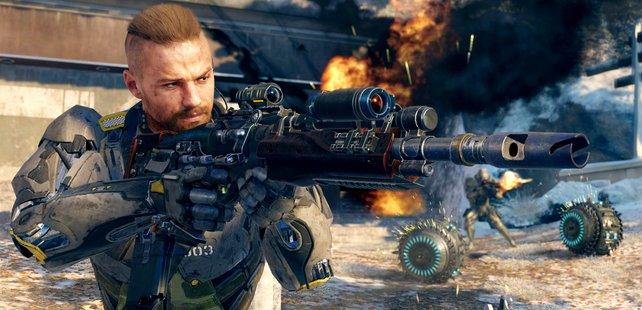Auch zwei Zielfernrohre an einer Waffe sind möglich.