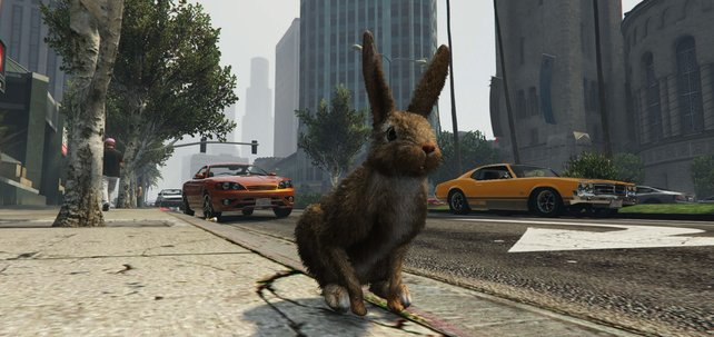 Ein Häschen im Stadtdschungel von GTA? Ein Easter Egg macht's möglich.