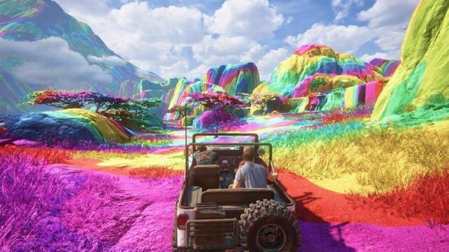 In Uncharted 4 kann man verschiedene Render-Modi freischalten, die die Spielwelt völlig anders erscheinen lassen.