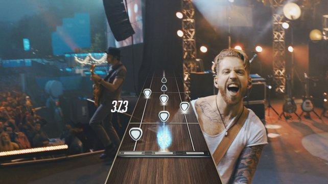 Die Mitglieder der Band reagieren auf euer Können als Gitarrist.