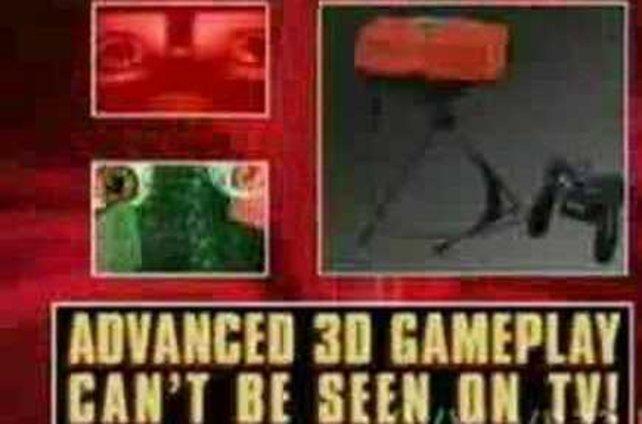"""""""Fortschrittliche 3D-Spielgrafik kann auf dem Fernsehschirm nicht demonstriert werden."""" Deshalb erlaubt Nintendo den potentiellen Kunden, das Gerät für zehn Dollar zu mieten."""