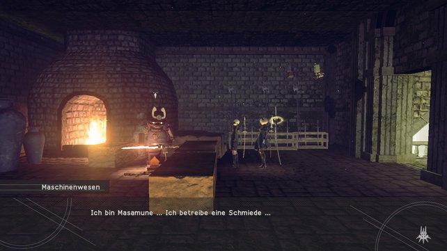 Meisterschmied Masamune versteckt sich in den Wäldern von Nier - Automate.