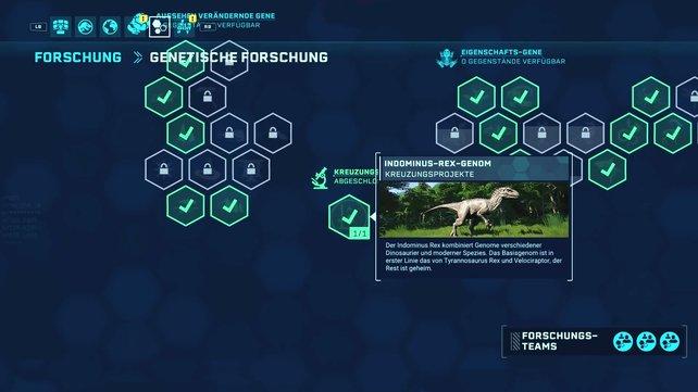 An dieser Stelle könnt ihr den Indominus Rex erforschen.