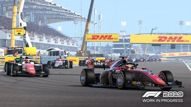 Sieht aus wie Formel 1 mit anderen Farben, ist aber die neu ins Spiel gekommene Formel 2.