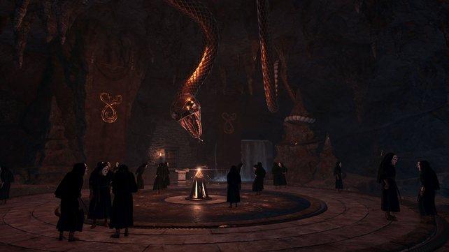 """Eine der größten Herausforderungen bei Assassin's Creed - Odyssey, ist die Trophäe """"Ein demaskierter Kult"""", bei der ihr alle Kultisten eliminieren müsst."""