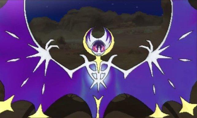Lunala findet ihr exklusiv in Pokémon Mond.