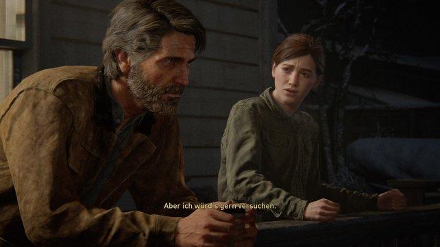 Trotz ihrer Differenzen war die letzte Unterhaltung, die die beiden führten eine versöhnliche. Am Ende war es aber genau dieser Umstand, dass sie sich nicht mehr richtig mit Joel versöhnen konnte, der Ellie in die Rachsucht trieb.