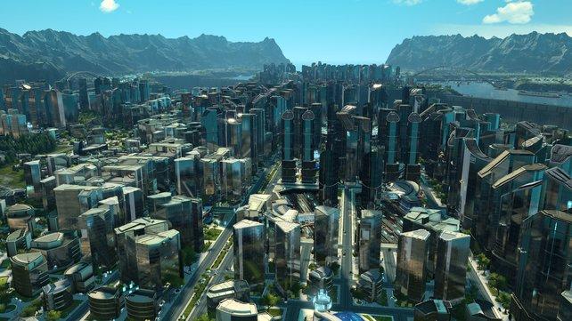 An so einer Stadt baut ihr natürlich etliche Tage. Danach könnt sie euch aus jeder erdenklichen Kameraperspektive anschauen.