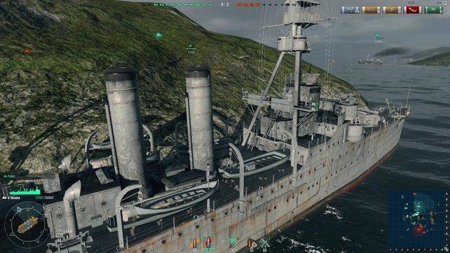 Selbst wenn ihr an Inseln und Felsen entlangschrammt, passiert eurem Schiff nichts, außer, dass ihr massiv abgebremst werdet.