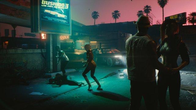 Du hast nichts gesehen und nichts gehört: In Night City regieren Gewalt und Verbrechen.