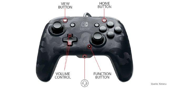 Im Vergleich zum Pro-Controller gibt es einige kleinere Änderungen.