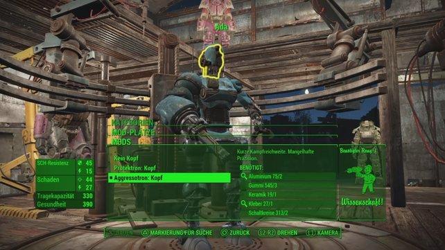 Auch Ada könnt ihr mit neuen Roboter-Mods ausstatten.