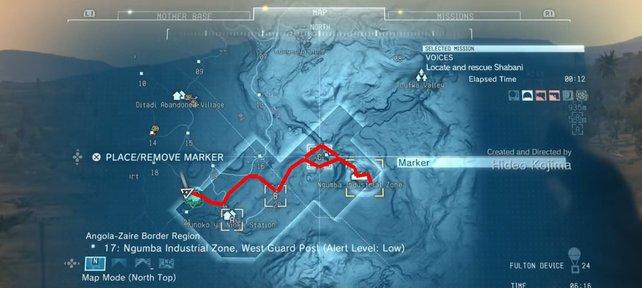 Die Route zum Industriegebiet.