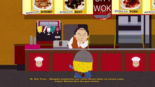 Schon in der Stab der Wahrheit mit dabei und auch schon seit langem in der Serie: Der Besitzer des City Wok glaubt, er sei ein Asiate.