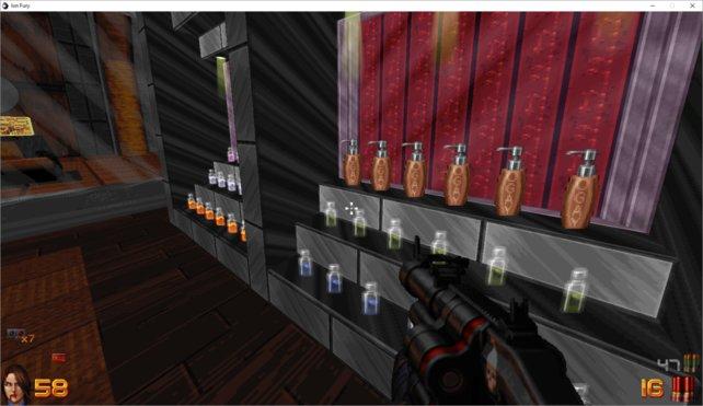 """Im Spiel lässt sich eine Seifenflasche mit der Bezeichnung """"Ogay"""" finden."""