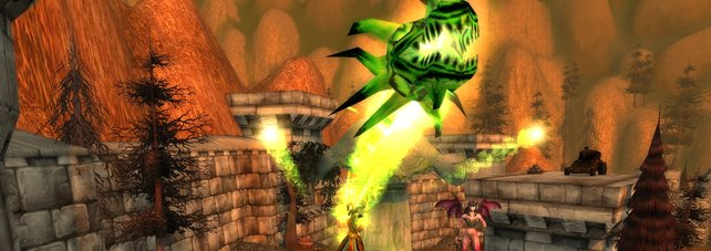 Als Zerstörungs-Hexenmeister stehen euch allerlei Fähigkeiten zur Verfügung, die ganz schön viel Schaden anrichten können.