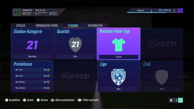 Ultimate Team: Hier könnt ihr nach den schönsten Trikots in FIFA 21 suchen.