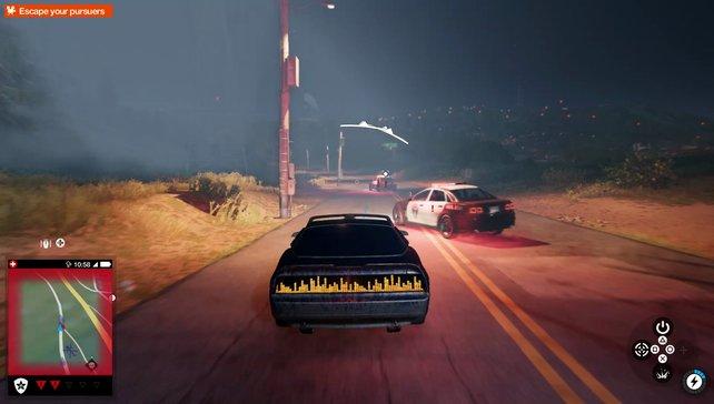 Witzig: Bei dieser Mission stehlt ihr ein sprechendes Auto (na, klingelts?) und entkommt der Polizei.