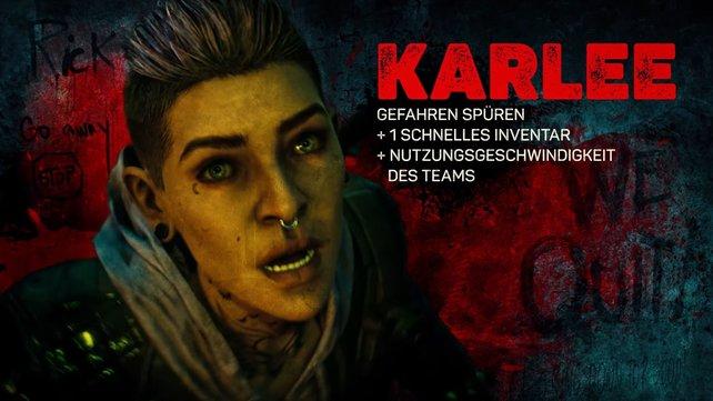 Karlee hat als Einzelgängerin gelernt, Gefahren schnell zu erkennen.