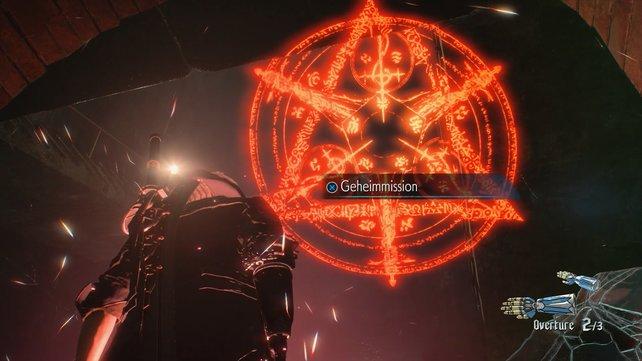 Wenn ihr den richtigen Blickwinkel gefunden habt, fängt das Symbol an zu leuchten und ihr könnt die Mission starten.